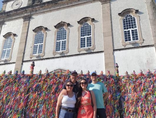 Marcos, Brenda, Giovana e Jonicler - Salvador com Morro de São Paulo