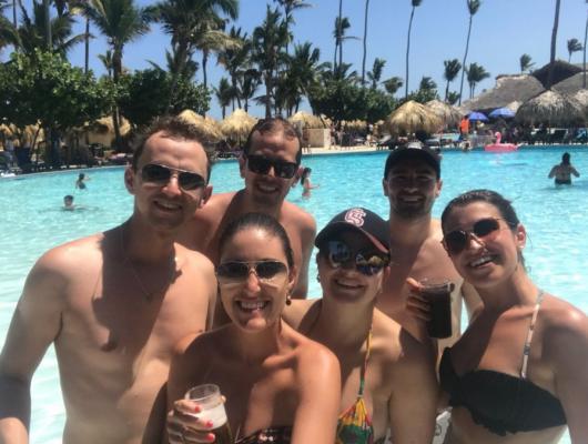 Mauricio e Graciele, Matheus, Karen, Mário, Saiúri - Punta Cana