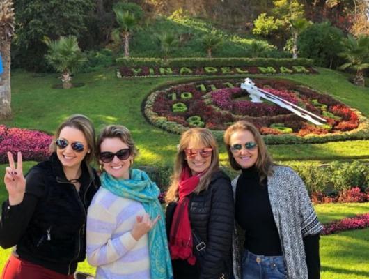 Diane, Andressa, Nara e Luciane - Santiago / Chile