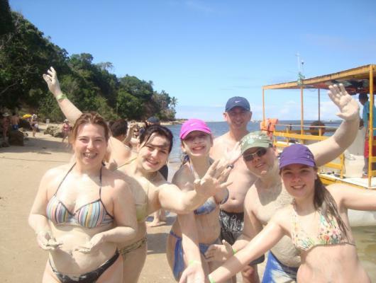 Ivaldecir, Ana, Marianna, Alexandra, Daniel e Leticia / Praia dos Carneiros - PE