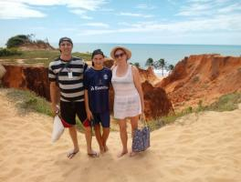 Luis Carlos, Luis Henrique e Marizete Montemezzo - Fortaleza